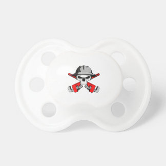 Roughneck Skull and Crossed Wrenches Baby Pacifiers