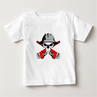 Roughneck Skull and Crossed Wrenches Baby T-Shirt