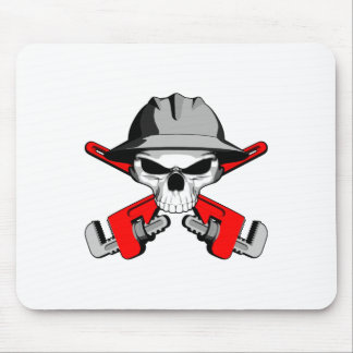 Roughneck Skull and Crossed Wrenches Mouse Pad