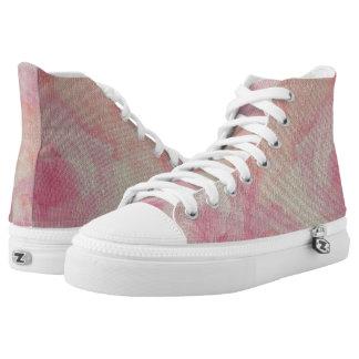 Rougissant Fleur Chanson Hi Top Printed Shoes
