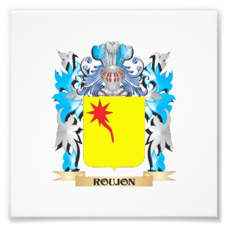 Roujon Coat of Arms - Family Crest Photo Print
