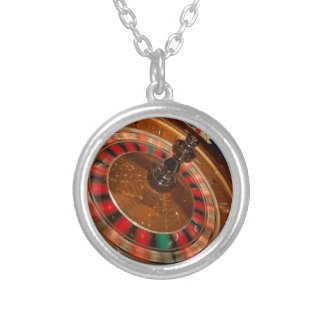 Roulette Game Money Casino Las Vegas Silver Plated Necklace