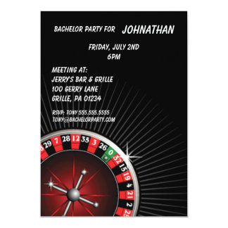 Roulette Party Invitation