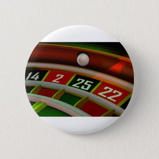 Roulette Rulet Casino Game 6 Cm Round Badge