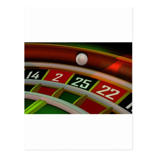 Roulette Rulet Casino Game Postcard
