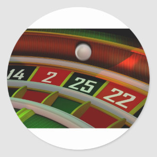 Roulette Rulet Casino Game Round Sticker