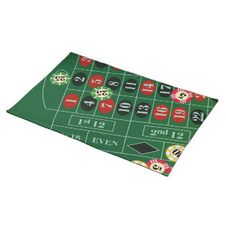 Roulette Table Custom Placemat