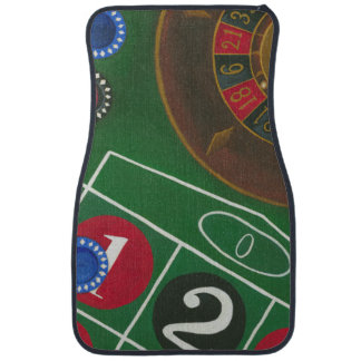 Roulette Table with Chips and Wheel Car Mat