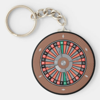 Roulette Wheel - Casino Play To Win Key Ring