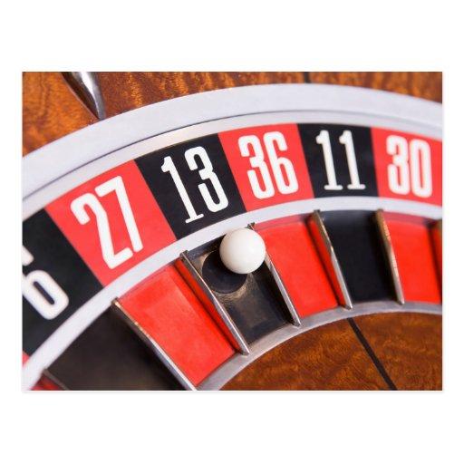 Roulette Wheel Closeup Postcards