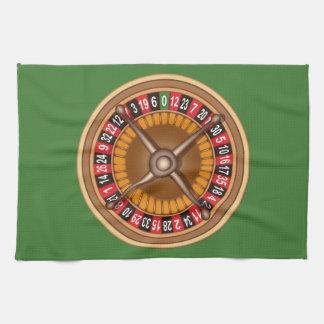 Roulette Wheel custom hand towels