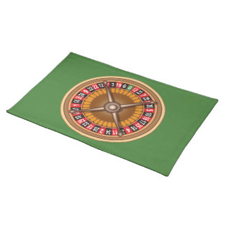 Roulette Wheel custom placemats
