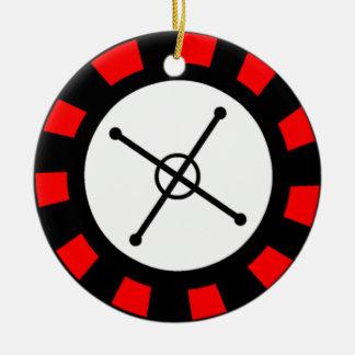 Roulette Wheel Round Ceramic Decoration
