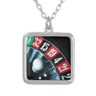 Roulette Wheel Square Pendant Necklace