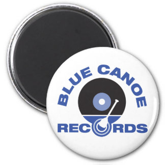 "Round 2 1/2 "" Blue Canoe Records Magnet"
