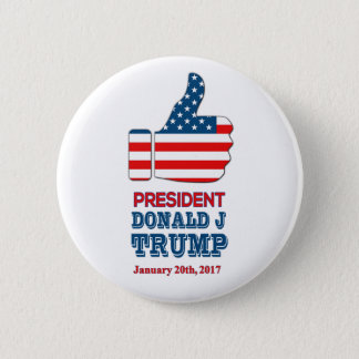Round 2.25 inch Button - Thumbs Up President Trump