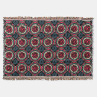 Round Abstract Pattern Throw Blanket