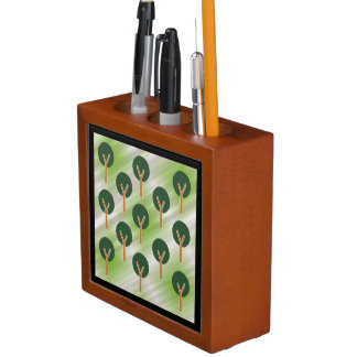 Round Abstract Trees Desk Organiser