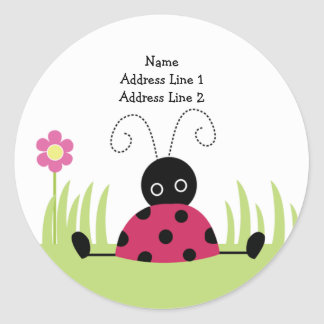 ROUND ADDRESS LABELS Little Ladybug