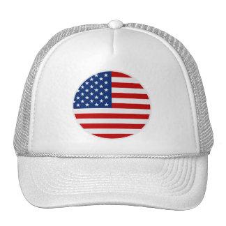 Round American Flag Trucker Hat
