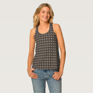 Round And Colorful Modern Fractal Art Pattern Tank Top