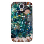 Round and flat marbles HTC vivid cover