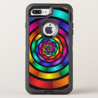 Round and Psychedelic Colorful Modern Fractal Art OtterBox Defender iPhone 8 Plus/7 Plus Case
