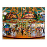 Round and Round the Carousel Postcard