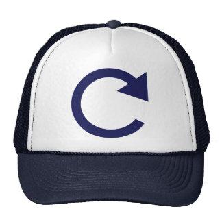 Round arrow trucker hat