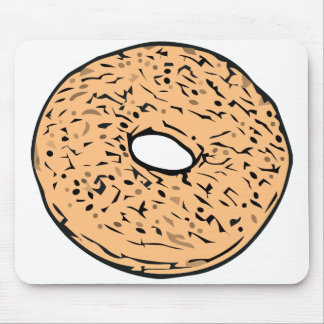 Round bagel mouse pad