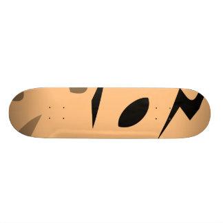 Round bagel skate deck