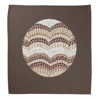 Round Beige Mosaic Bandana