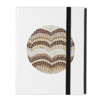 Round Beige Mosaic iPad 2/3/4 Case Cover For iPad