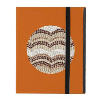 Round Beige Mosaic iPad 2/3/4 Case iPad Folio Case