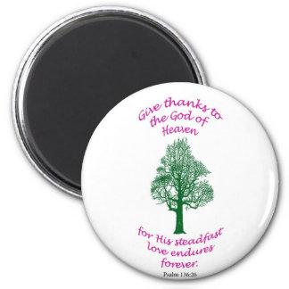 Round bible verse magnet