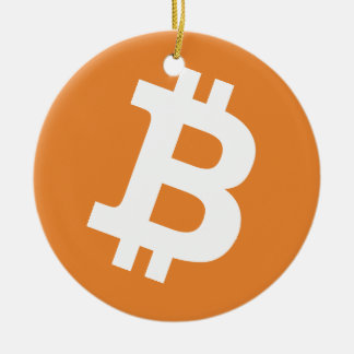 Round Bitcoin Christmas tree ornament