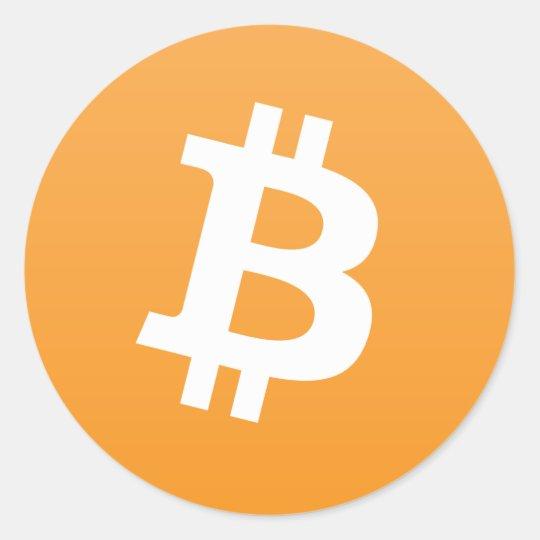 Round Bitcoin Logo/Sticker Classic Round Sticker
