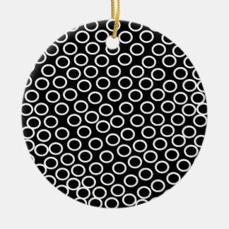 Round Black Image Round Ceramic Decoration