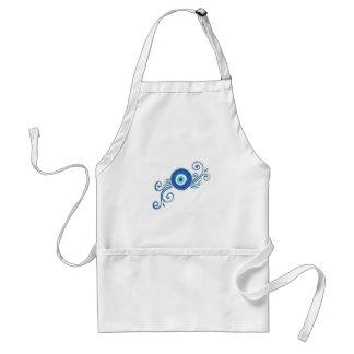 round blue evil eye standard apron