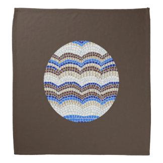 Round Blue Mosaic Bandana
