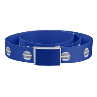 Round Blue Mosaic Belt