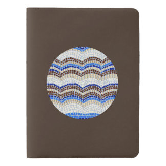 Round Blue Mosaic Extra Large Notebook