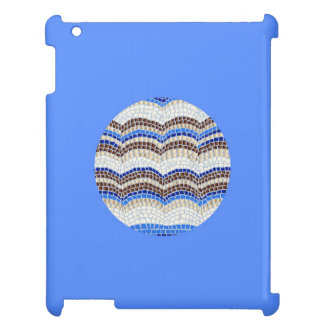 Round Blue Mosaic Glossy iPad Case