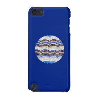 Round Blue Mosaic iPod Touch 5g Case