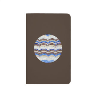 Round Blue Mosaic Pocket Journal