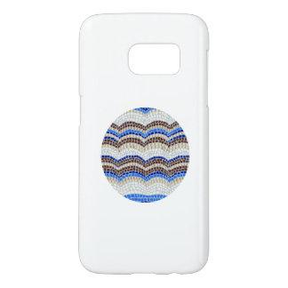 Round Blue Mosaic Samsung Galaxy S7 Case