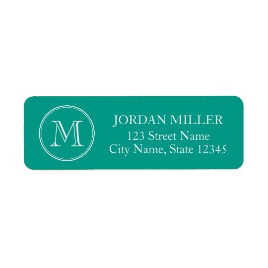 Round Border Monogram with Editable Colour Address