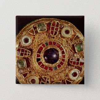 Round brooch 15 cm square badge