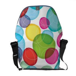 Round bubbles kids pattern 2 commuter bag
