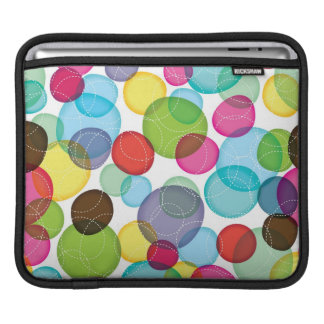 Round bubbles kids pattern 2 sleeve for iPads